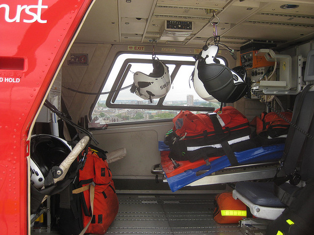 inside an ambulance